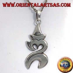 Om pendant Balinese silver (sacred syllable)