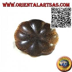 Svuotatasche vassoio a fiore tondo in legno di cocco