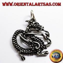 Dragón colgante, plata 925