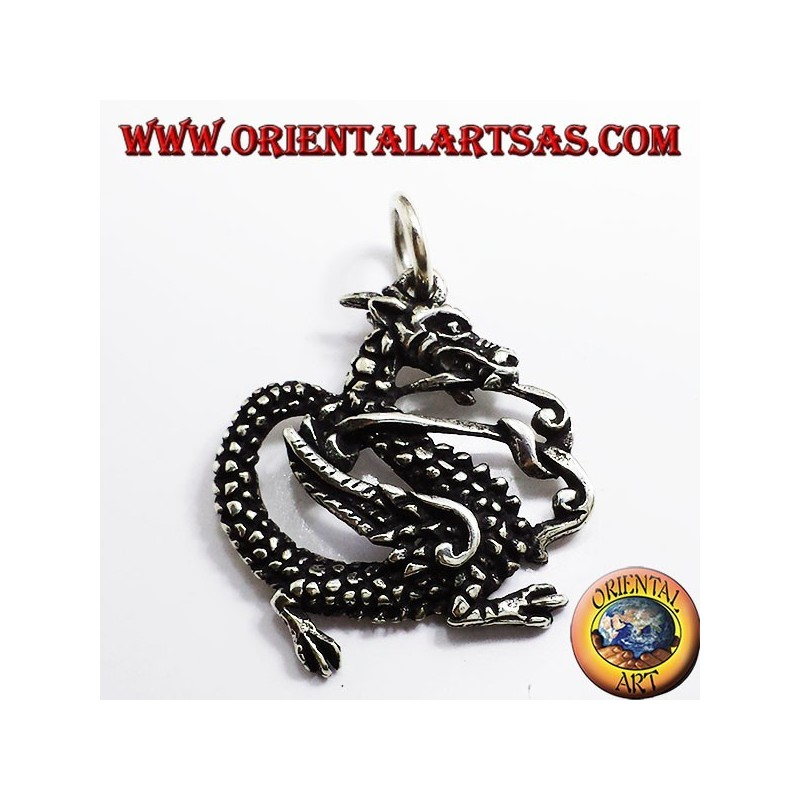 Dragon pendant, 925 silver
