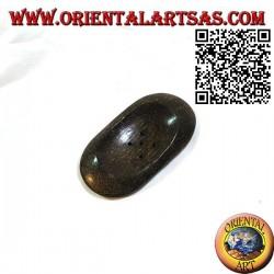 Portasapone ovale in stile orientale in legno di cocco