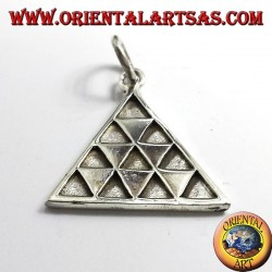 Tétraktys pendentif triangle, argent
