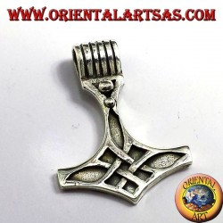 Thor's Hammer pendant, silver