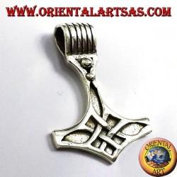 Thor's Hammer pendant, silver