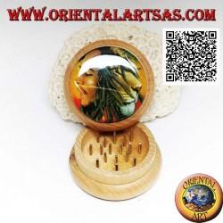 Grinder tritatabacco in legno di pino con immagine di Bob Marley, da 5 cm Ø (5)