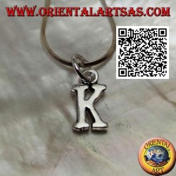 Silver pendant, initial capital letter (very small)