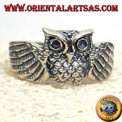 Anello civetta gufo in argento