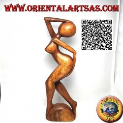 Skulptur einer nackten Frau als Zeichen von Erotik und Verzweiflung in 31 cm Suarholz