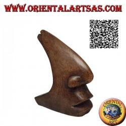 Sculpture du profil maxillo-facial dans un style futuriste, en bois de suar 15 cm