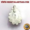 Ciondolo in argento con Turchese naturale a goccia e corallo