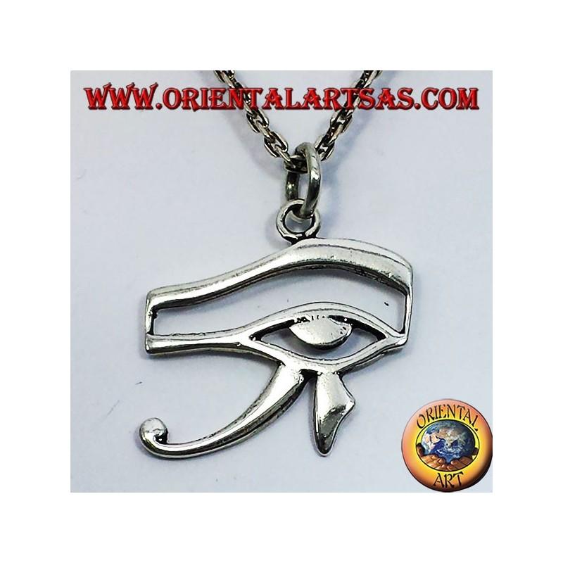 silver pendant eye of Horus and Eye of Ra