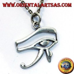 silver pendant eye of Horus and Eye of Ra