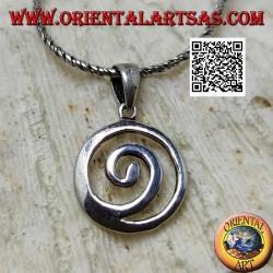 Colgante de plata, espiral celta