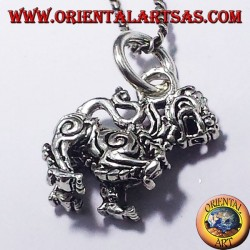 Pendant Thai Singha (Lion), silver