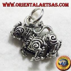 Ciondolo Singha Thai Leone in argento