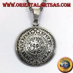 colgante de plata Piedra del Sol (calendario azteca)