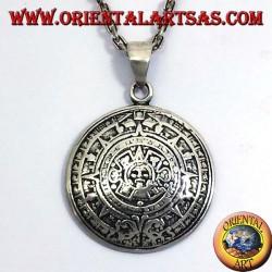 ciondolo in argento PIETRA DEL SOLE (CALENDARIO AZTECO)