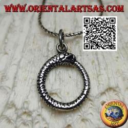 Ciondolo in argento a forma di Uroboro o Ouroboros