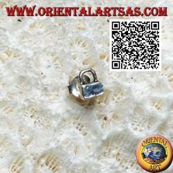 Mini orecchino in argento, il lucchetto chiuso