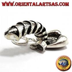 ciondolo pene o fallo mobile in argento
