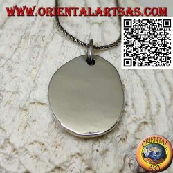 Silberanhänger mit glatter ovaler Medaille