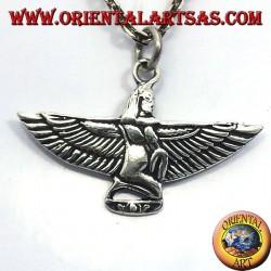 colgante de Maat, diosa de la justicia, la plata