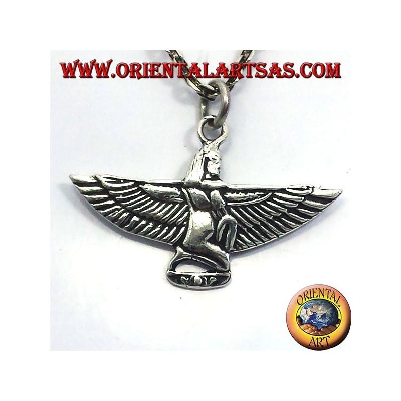 Anhänger Maat, der Göttin der Gerechtigkeit, Silber