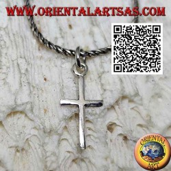 Glatter und einfacher Immissa oder Latin Cross Silber Anhänger (klein)