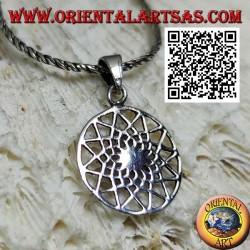 Ciondolo in argento il quinconce, stella a 12 punte (simbolo massonico)