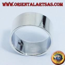 anneau bande plate 10 mm. argent