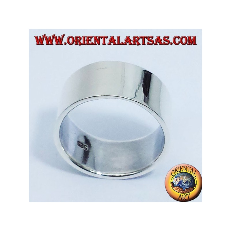 ring flat band 10 mm. silver