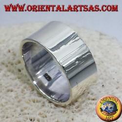 anello fascia piatta 10 mm. in argento