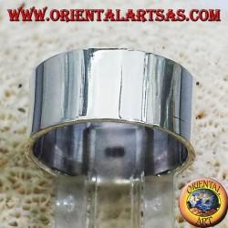 anillo de banda plana de 10 mm. plata