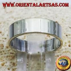 кольцо плоскую полосу 6 мм. серебряный