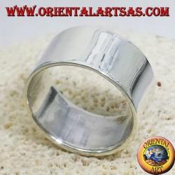 anneau bande plate 12 mm. argent