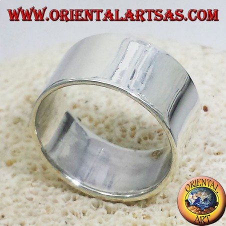 anello fascia piatta 12 mm. in argento