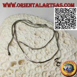Collana in argento 925 ‰ con maglia snake da 47,5 cm x 1,5 mm