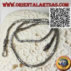 Borobudur (byzantinisches Glied) 925 ‰ Silberkette von 47,5 cm x 3 mm
