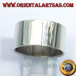 anillo de banda plana de 12 mm. plata