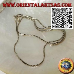 45cm x 0.5 * 1mm crushed two-twisted 925 ‰ silver necklace