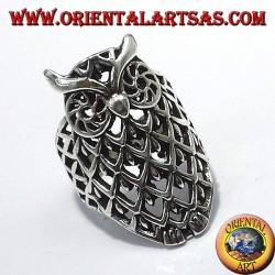 Серебряное кольцо, сова пирсинг