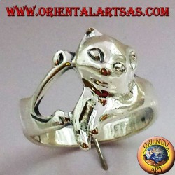 Cat Ring (cat) Silver