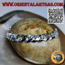 Bracciale in argento liscio...