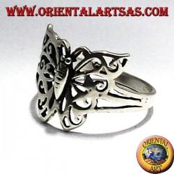 anello in argento farfalla