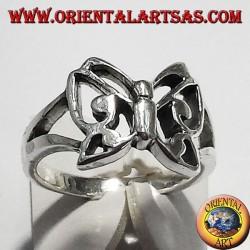 anello farfalla, in argento