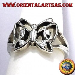 Butterfly ring in solid silver