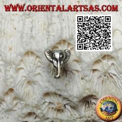 Mini silberner Ohrring, Elefantenkopf