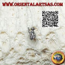 Mini pendiente de plata, el pastor con el palo