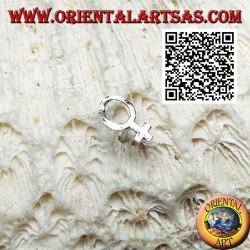 Mini orecchino in argento, simbolo del sesso femminile (Venere)