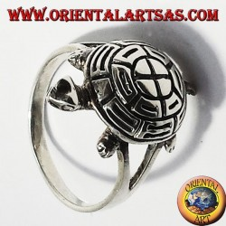 Turtle silver ring